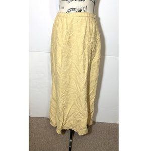 J Jill Floral Maxi Skirt Scalloped Hem